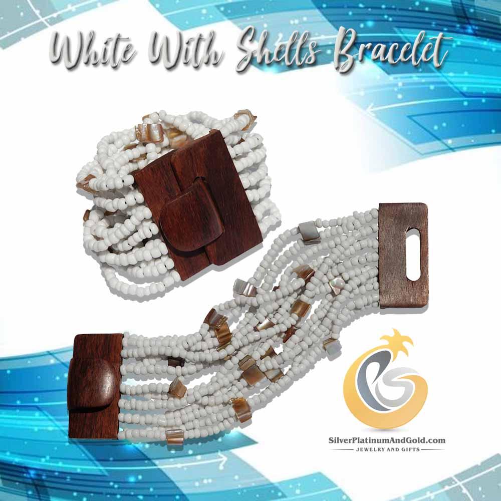 White With Shells Bracelet